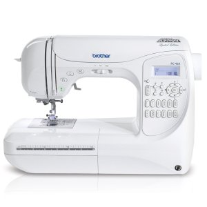 Brother Project Runway PC420PRW 294-Stitch Professional Grade Computerized Sewing Machine with 3 Built-In Lettering Styles