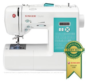 SINGER 7258 Stylist Award-Winning 100-Stitch Computerized Sewing Machine with DVD